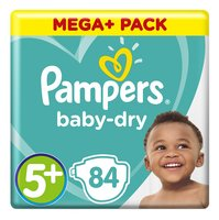 PAMPERS Baby-Dry maxi 5+ 12-17kg 84st