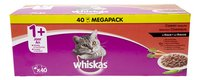 WHISKAS Pouch vlees selectie 1+ 40x100g
