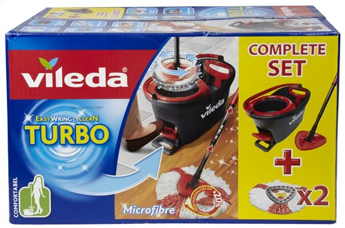 vileda easy wring clean turbo mop kit microvezel colruyt. Black Bedroom Furniture Sets. Home Design Ideas