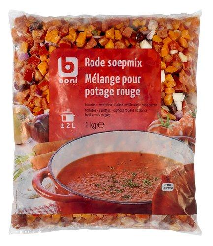 boni selection mix pour soupe l gumes rouges congel s 1kg colruyt. Black Bedroom Furniture Sets. Home Design Ideas