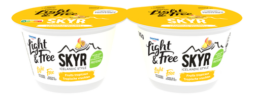 DANONE LIGHT&FREE Skyr tropical 2x145g