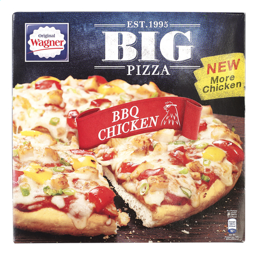 WAGNER BIG PIZZA BBQ Chicken 420g   Colruyt