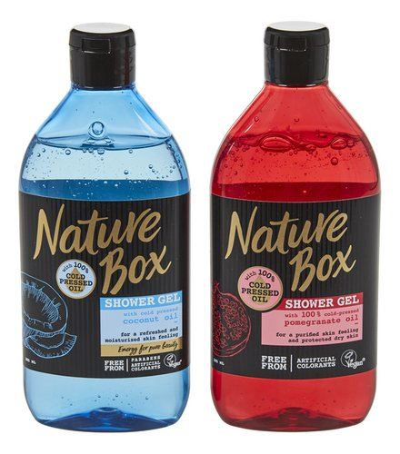NATURE BOX douche granaatapp./coco 385ml