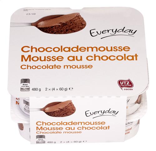 Everyday Mousse Au Chocolat 8x60g Pot Colruyt