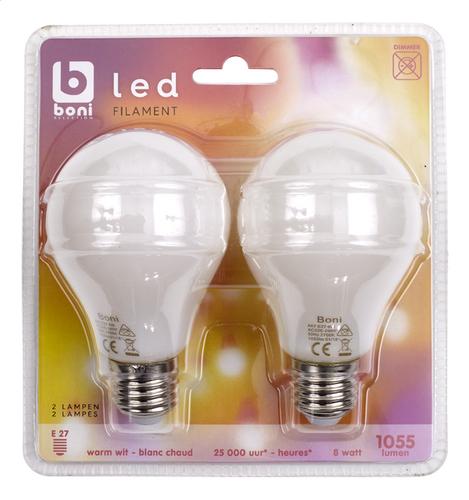 Lampe 8w 1055 Lumen Led 2 Boni Pièces Poire Filament E27 Selection FTlJ1cK