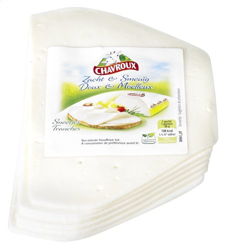 CHAVROUX fromage chèvre tranches ±250g