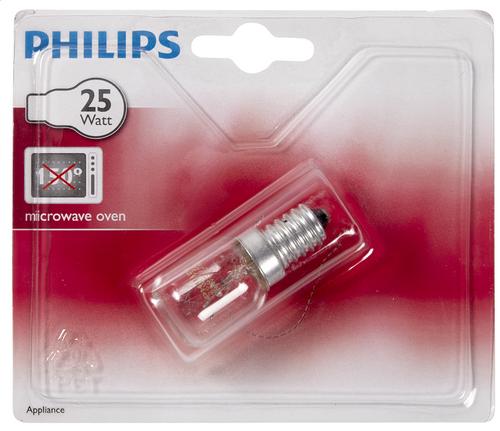 philips appliance lampe pour micro ondes e14 25w 172 lumen. Black Bedroom Furniture Sets. Home Design Ideas